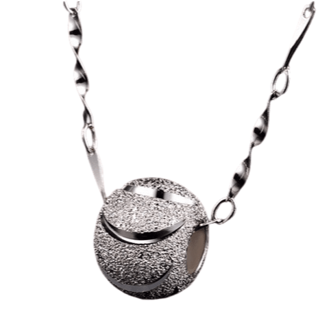 Silver Tennis Ball Pendant