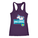 I Believe In Unicorns And Good Line Calls - Women Next Level Racerback Tank