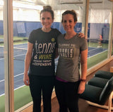 Allergic to Double Faults - Ladies Next Level Triblend Shirt