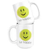 Hit Happy Tennis Large Coffee 15 oz Mug