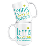 Tennis and Coffee Large Mug