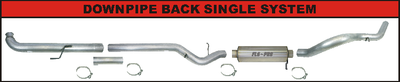 "2007.5-2010 GM Duramax ""Downpipe Back"" Single 4-Inch Race Exhaust"