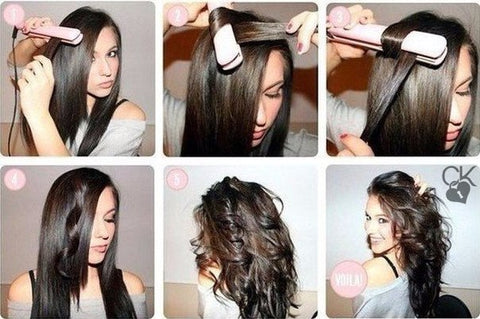 how to make waves with a straightener