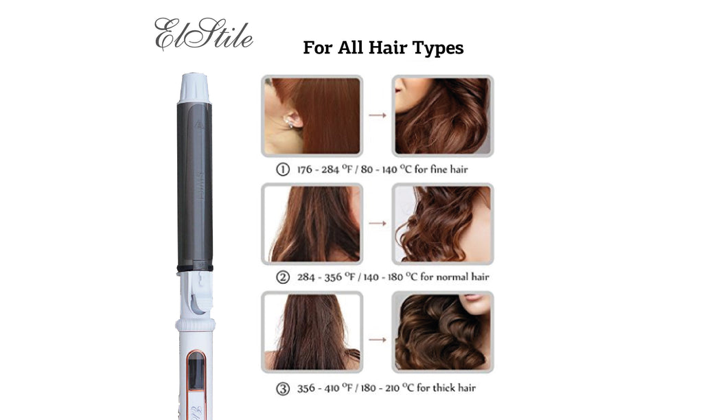 Elstile ™ Magic Rotating Hair Curling Iron Size 1.1 inch / 28 mm - will be in stock in September