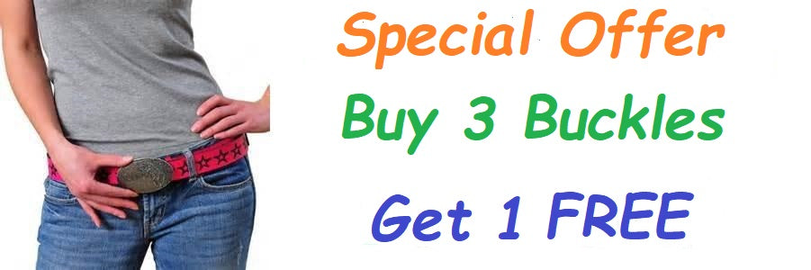 Special Offer Buy 3 Belt Buckles get one free!
