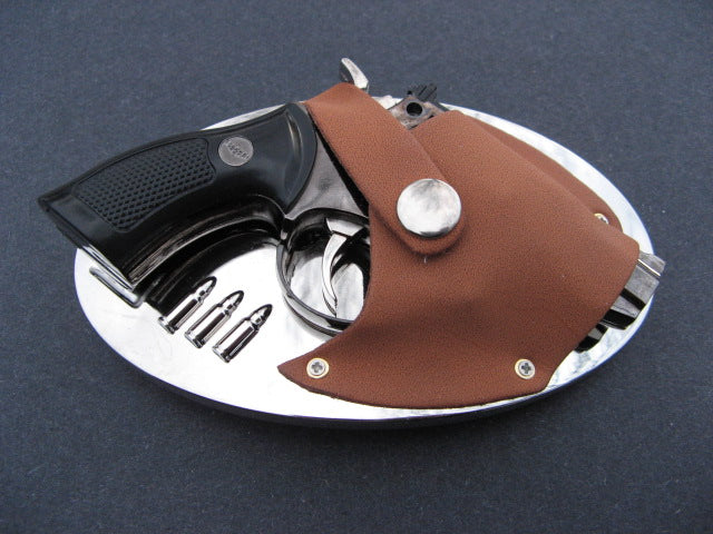 Gun Flint Lighter Belt Buckle Guns Handguns Lighters Holsters Buckles & Belts - Cool Belt Buckles Business - CoolBuckles.Biz