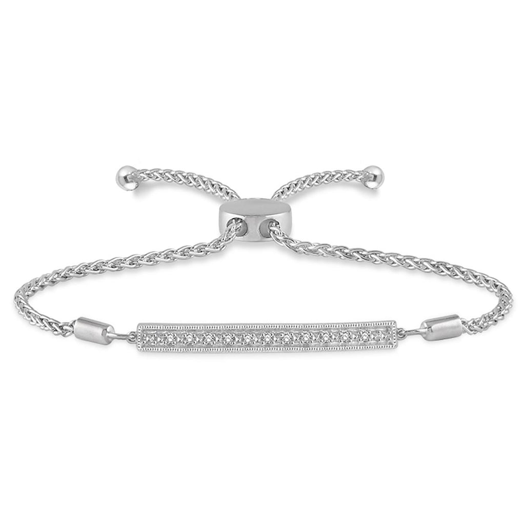 amour bolo tw silver sterling diamond bracelet ct in