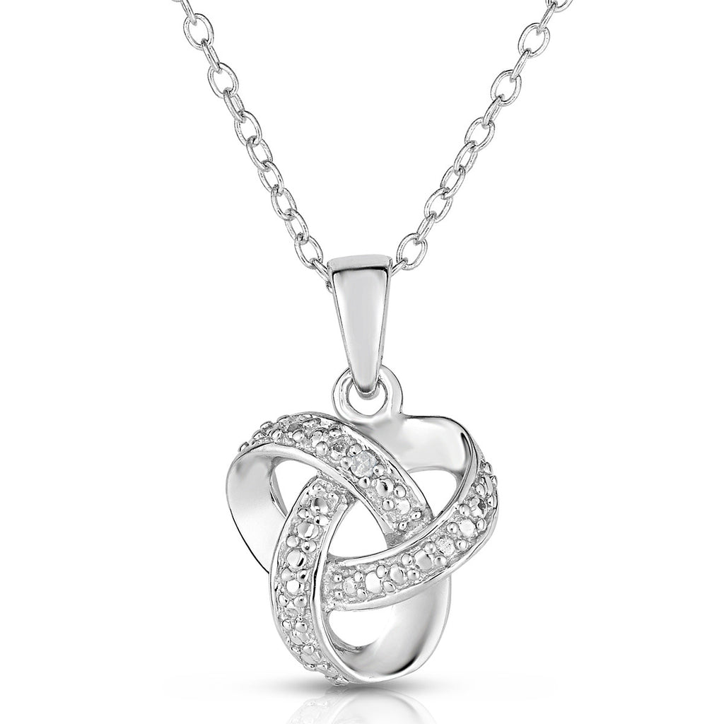 Diamond love knot necklace forever today by jilco diamond love knot necklace aloadofball Image collections