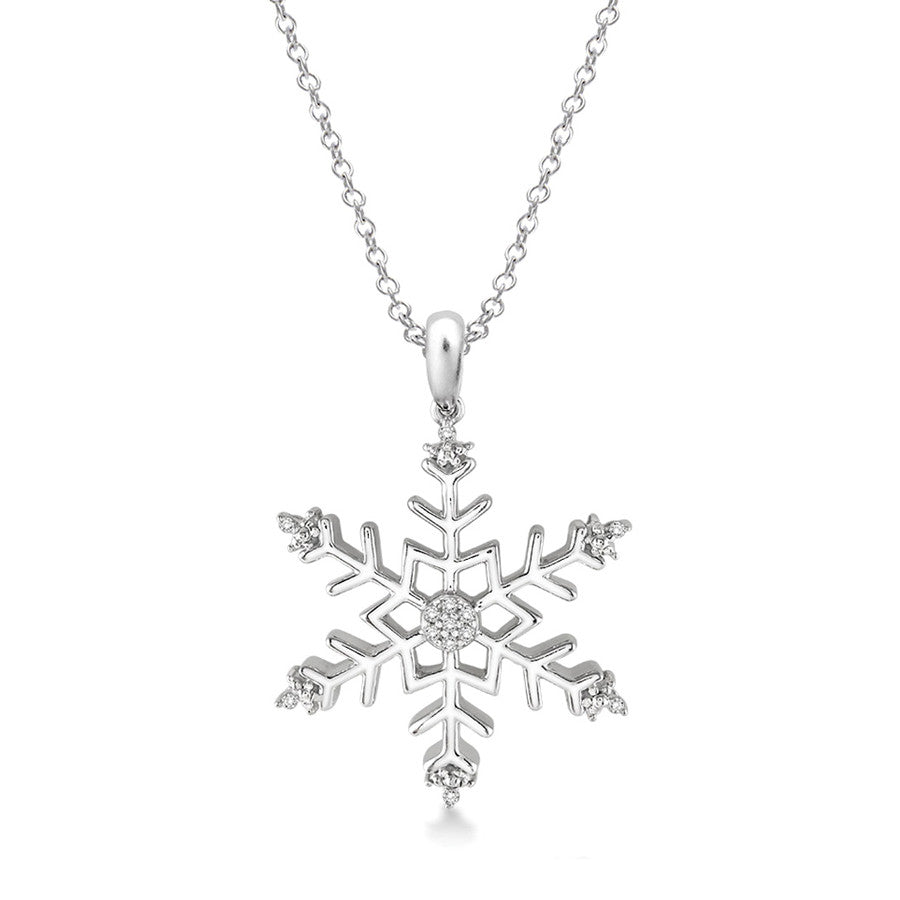 diamond s views gifts yellow gold snowflake more brilliant women necklace