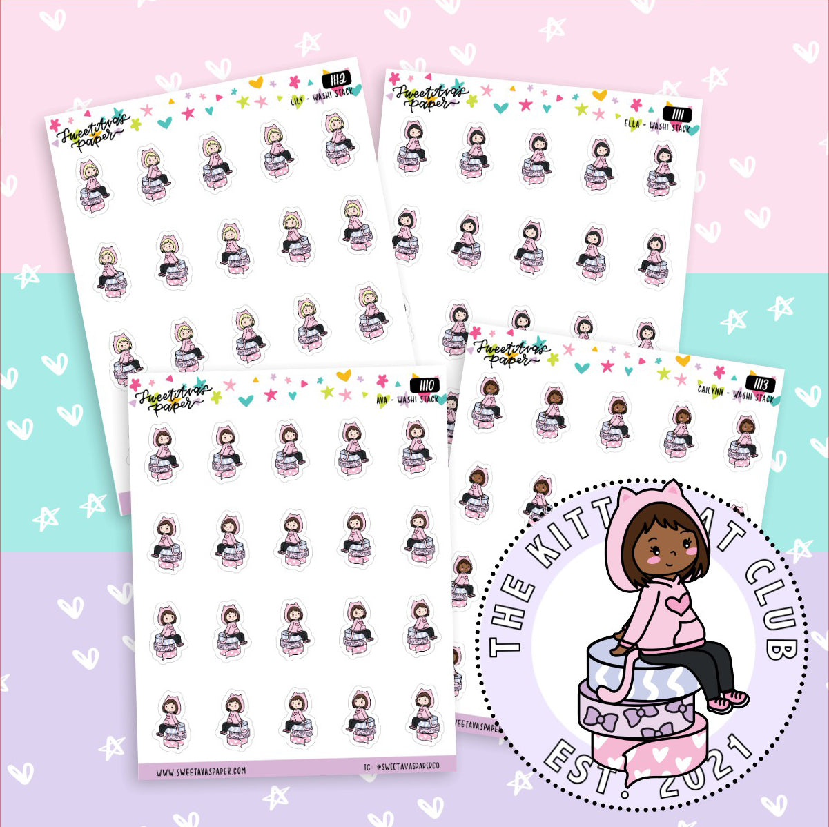 Laptop Planner Stickers - Girl Boss Stickers - Work Stickers - Design Stickers - Doodle Planner Stickers - Character Sticker - 1113