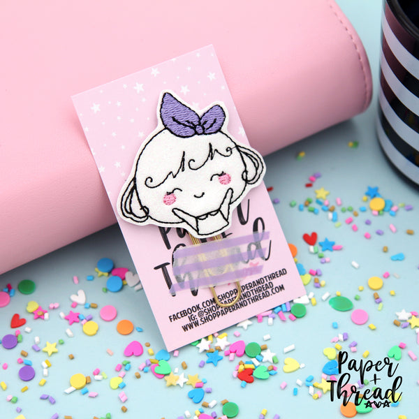 Happy Girl Planner Clip