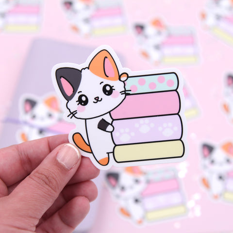 Pumpkin Washi Stack - Vinyl Sticker - Vinyl Die Cut Sticker - Cat Stickers - Vinyl Sticker - Vinyl Decal - Cat Decal