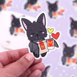 Monty Loves Fast Food - Bat Vinyl Die Cut Sticker