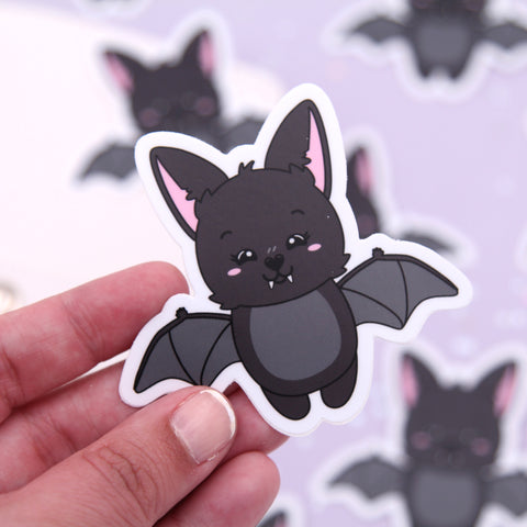 Monty Happy - Bat Vinyl Die Cut Sticker