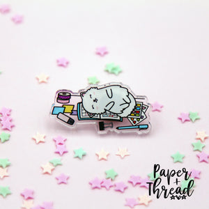 Planner Love - Snowball - Acrylic Pin