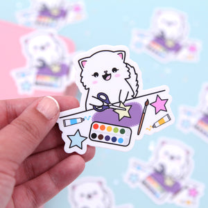 Snowball Crafting Vinyl Die Cut Sticker