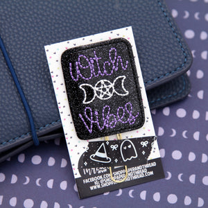 Witch Vibes Planner Clip - Witch Planner Clip - Halloween Bookmark - Fall Clip
