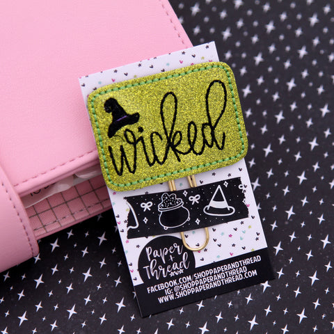 Wicked Witch Planner Clip - Witch Planner Clip - Halloween Bookmark - Fall Clip