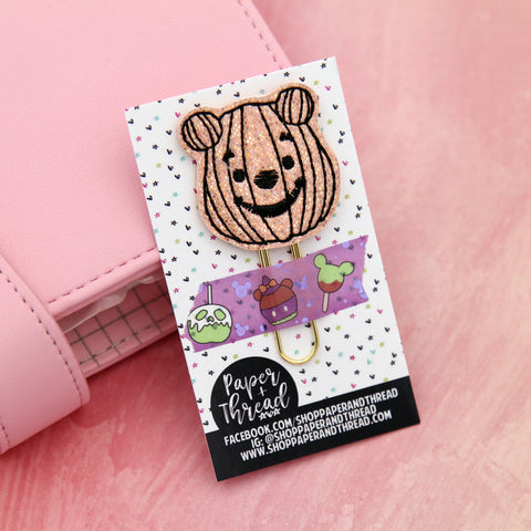 Pumpkin Pooh Everything Planner Clip - Halloween Bookmark - Fall Clip - Magical Clip