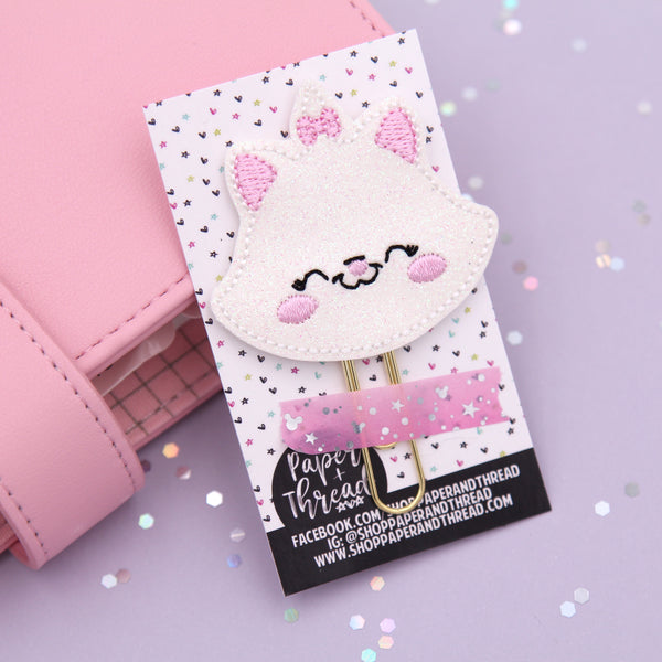 Marie The Cat Planner Clip