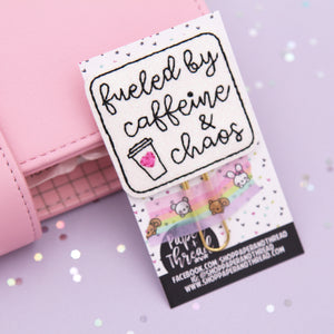 Fueled by Caffeine and Chaos Planner Clip