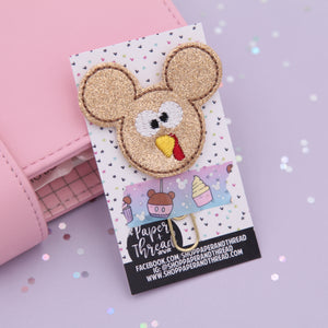 Thanksgiving Turkey Mouse Planner Clip