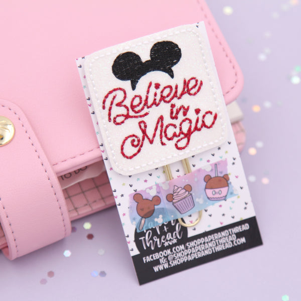 Believe in Magic Planner Clip