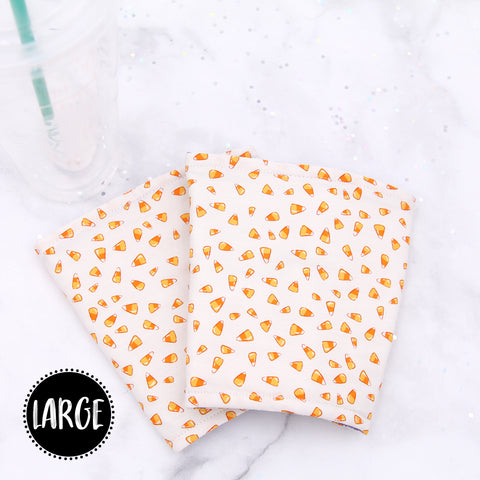 LARGE - Candy Corn Insulated Coffee Sleeve