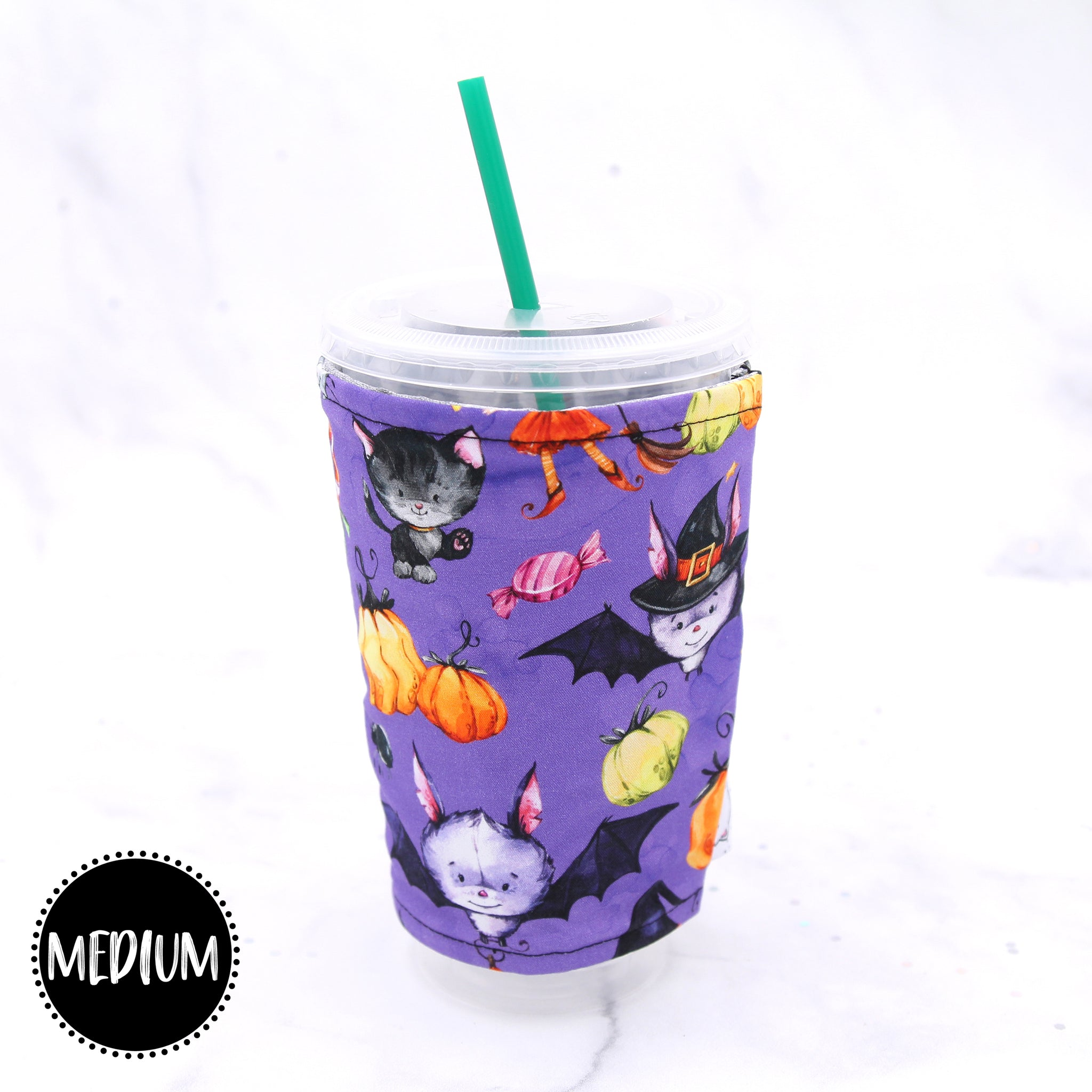 MEDIUM - Halloween Bats Insulated Coffee Sleeve