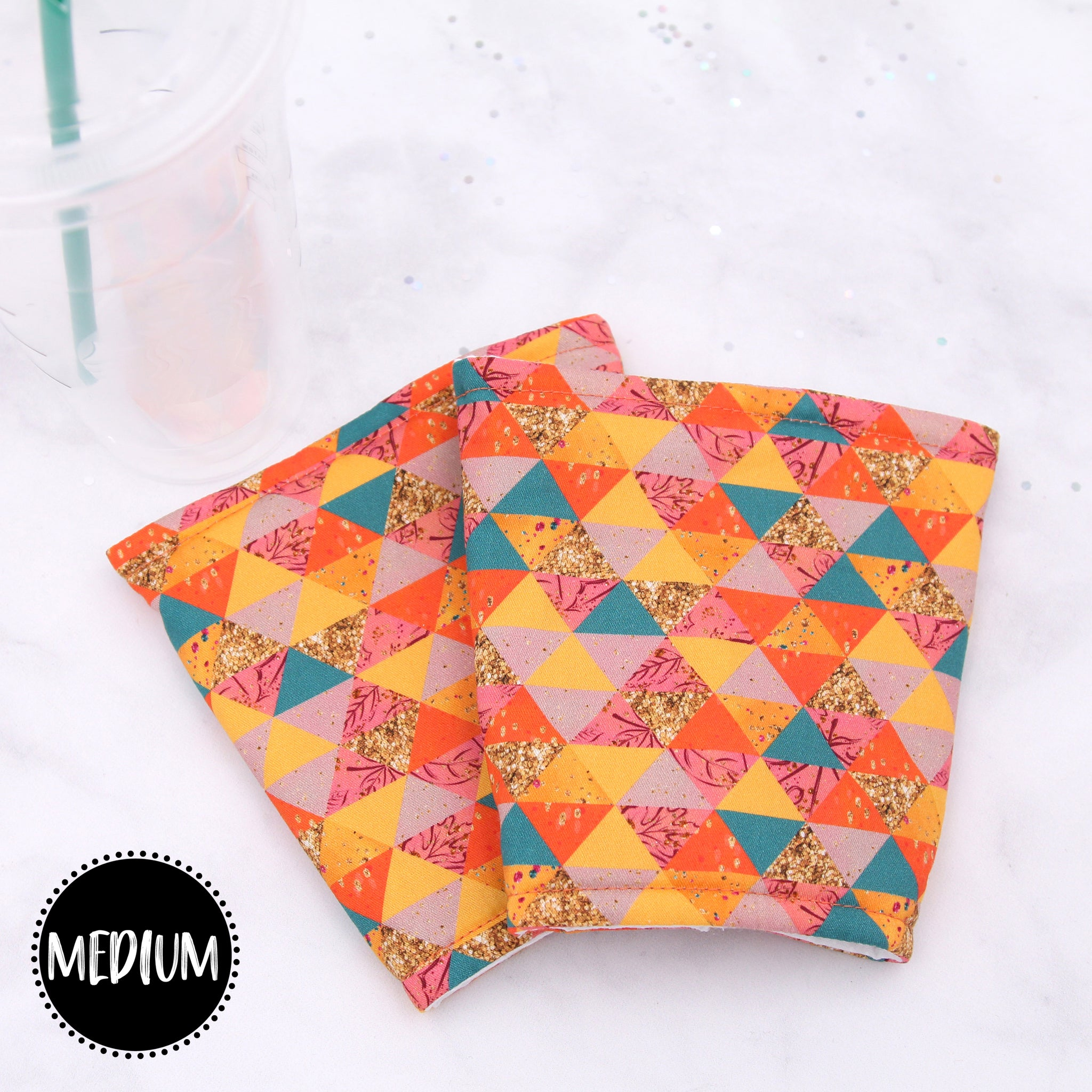 MEDIUM - Fall Triangles Insulated Coffee Sleeve