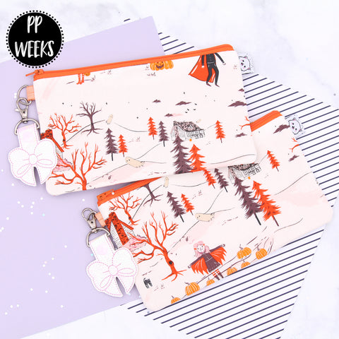 Trick or Treat Trail - Hobonichi Zipper Pouch - Print Pression Weeks - Planner Pouch - Pencil Pouch - Pen Pouch - No Coupons Please