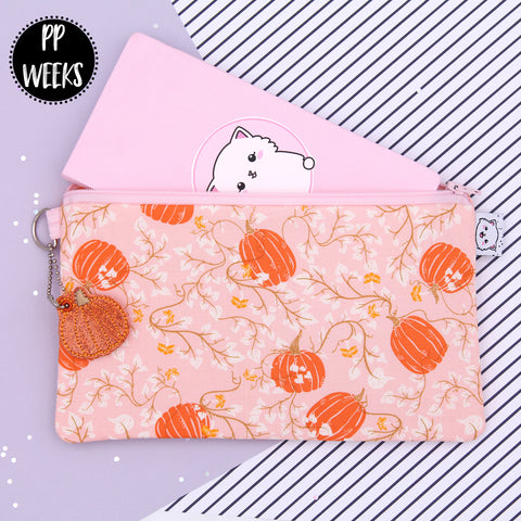 Pumpkin Patch - Hobonichi Zipper Pouch - Print Pression Weeks - Planner Pouch - Pencil Pouch - Pen Pouch - No Coupons Please