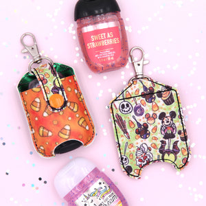 Halloween Park Snacks Hand Sanitizer Case - Sanitizer NOT Included - Candy Corn Hand Sanitizer Case