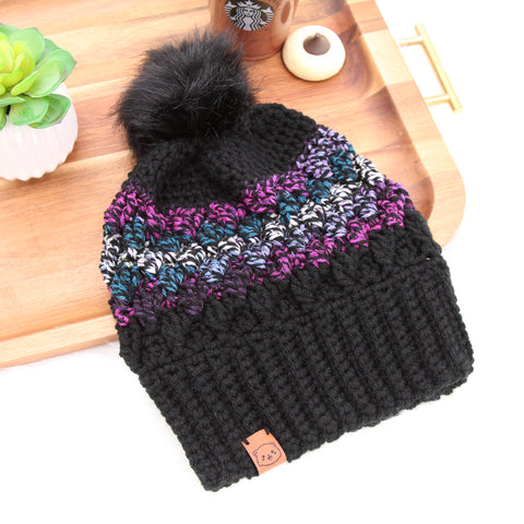 Twilight - Crochet Pom Pom Beanie