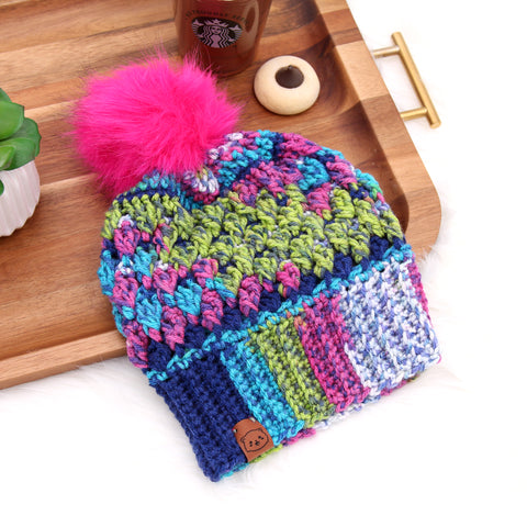 Surprise Party  - Crochet Pom Pom Beanie