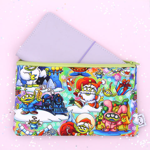 Holiday Toy Aliens Hobonichi Zipper Pouch - Print Pression Weeks - Pencil Pouch - Pen Pouch