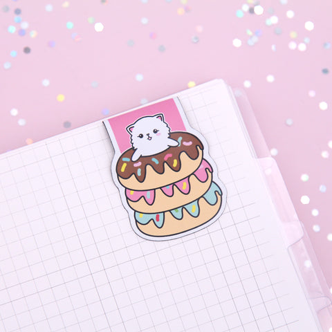 Snowball in Donut Stack Magnetic Bookmark
