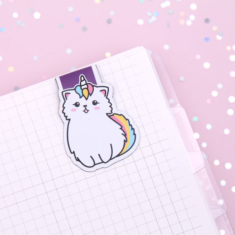 Snowball Unicorn Magnetic Bookmark