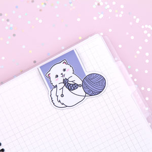 Snowball Crochet Magnetic Bookmark