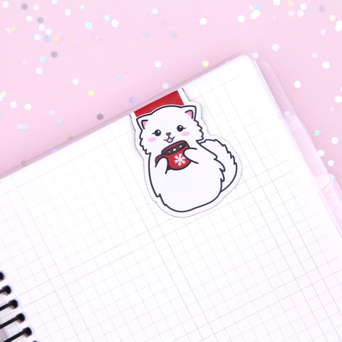 Snowball Hot Cocoa Magnetic Bookmark