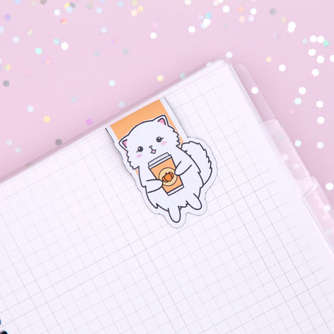 Snowball Pumpkin Spice Latte Magnetic Bookmark