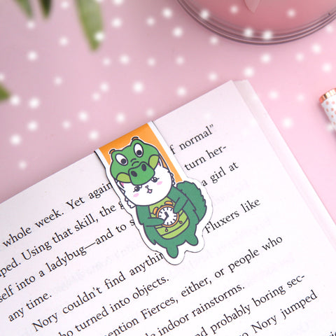 Alligator Snowball Magnetic Bookmark