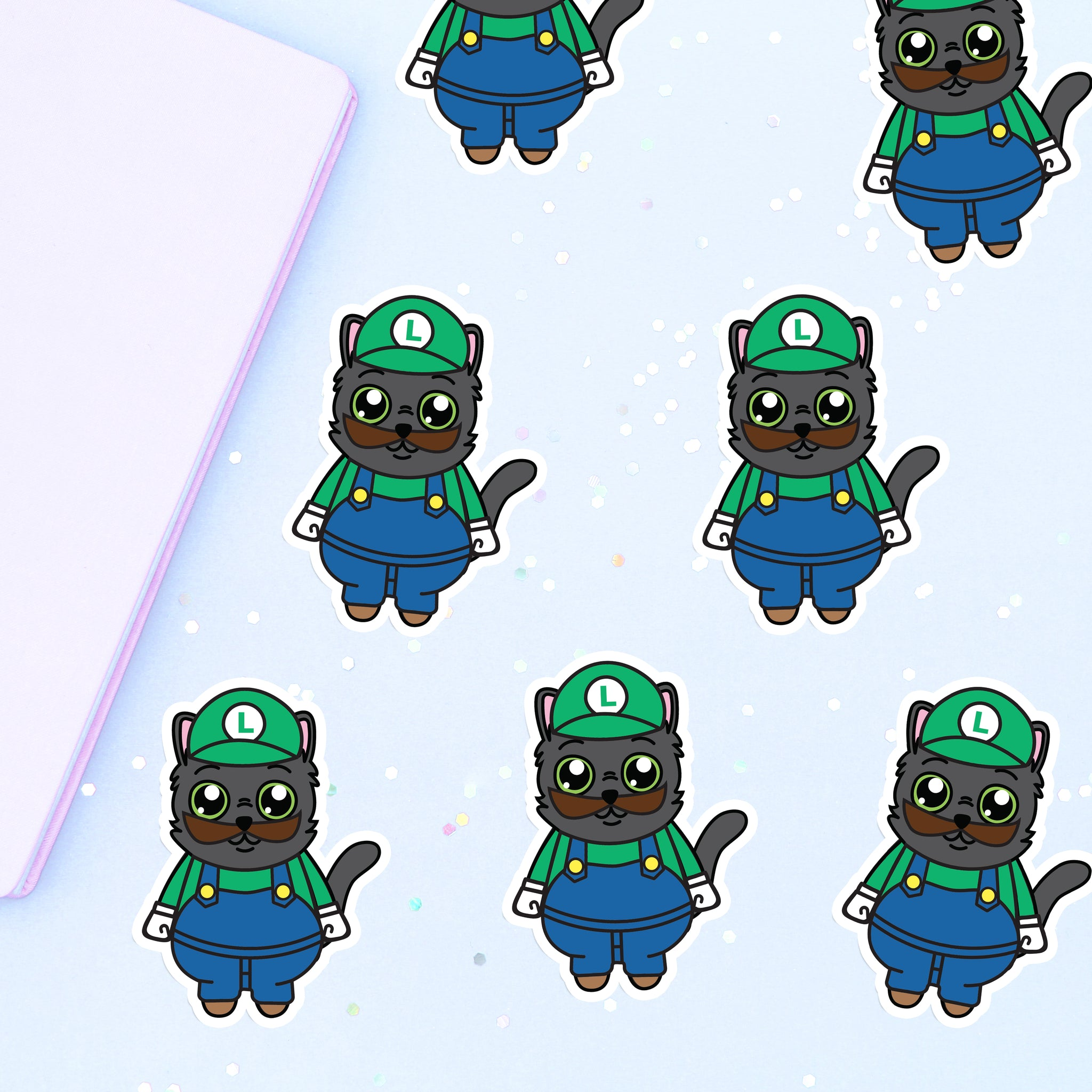 Shadow Luigi Vinyl Sticker