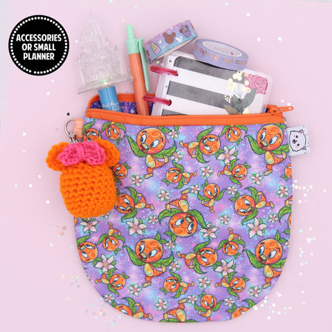 Orange Bird Pencil Pouch - Pen Pouch - Washi Pouch - Micro Planner Pouch - No Coupons Please
