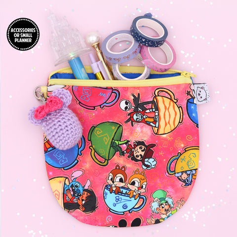Teacup Ride - Pencil Pouch - Pen Pouch - Washi Pouch - Micro Planner Pouch - No Coupons Please