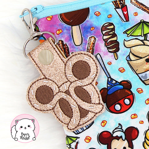 Mouse Shaped Pretzel Key Chain
