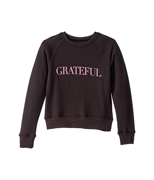 Grateful Raglan Crewneck - Vintage black