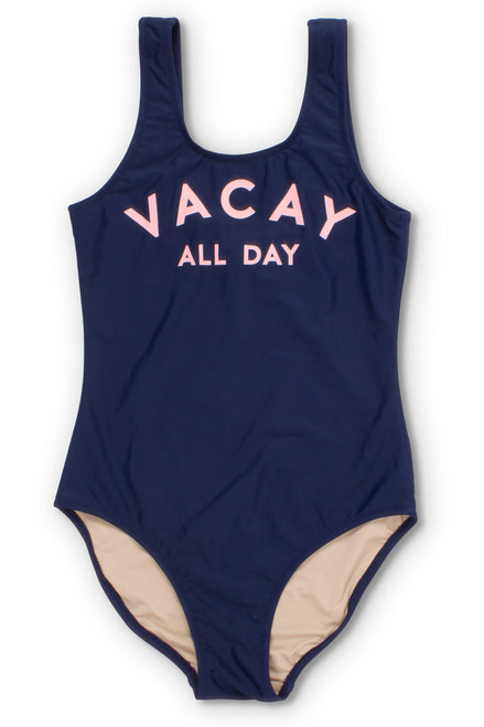 Navy Vacay All Day Scoop Swimsuit