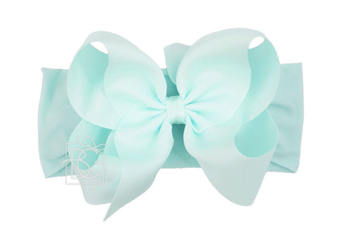 Noah Headband Bow - Aquamarine