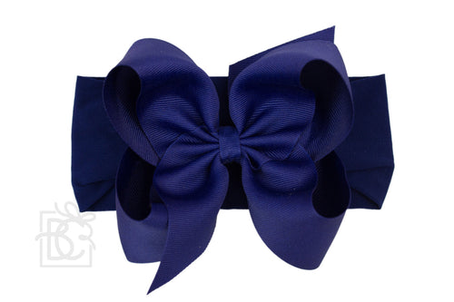Big navy Headband Bow